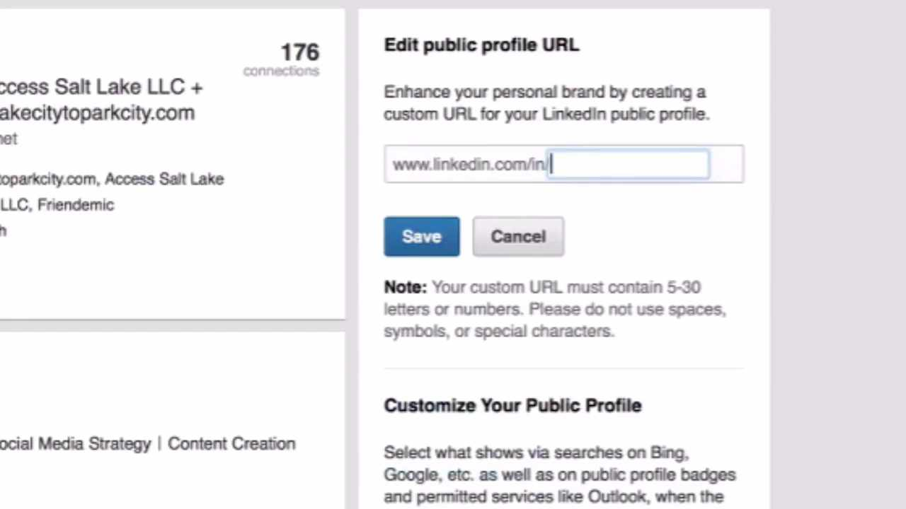 How and why to customize your linkedin profile url access salt lake biocorpaavc Image collections